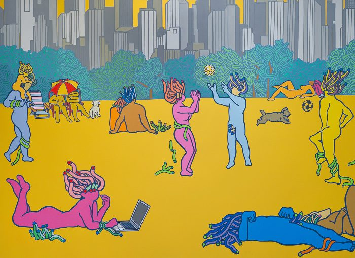 central-park-acrylic-oil-on-canvas-130-3x-194cm-2012