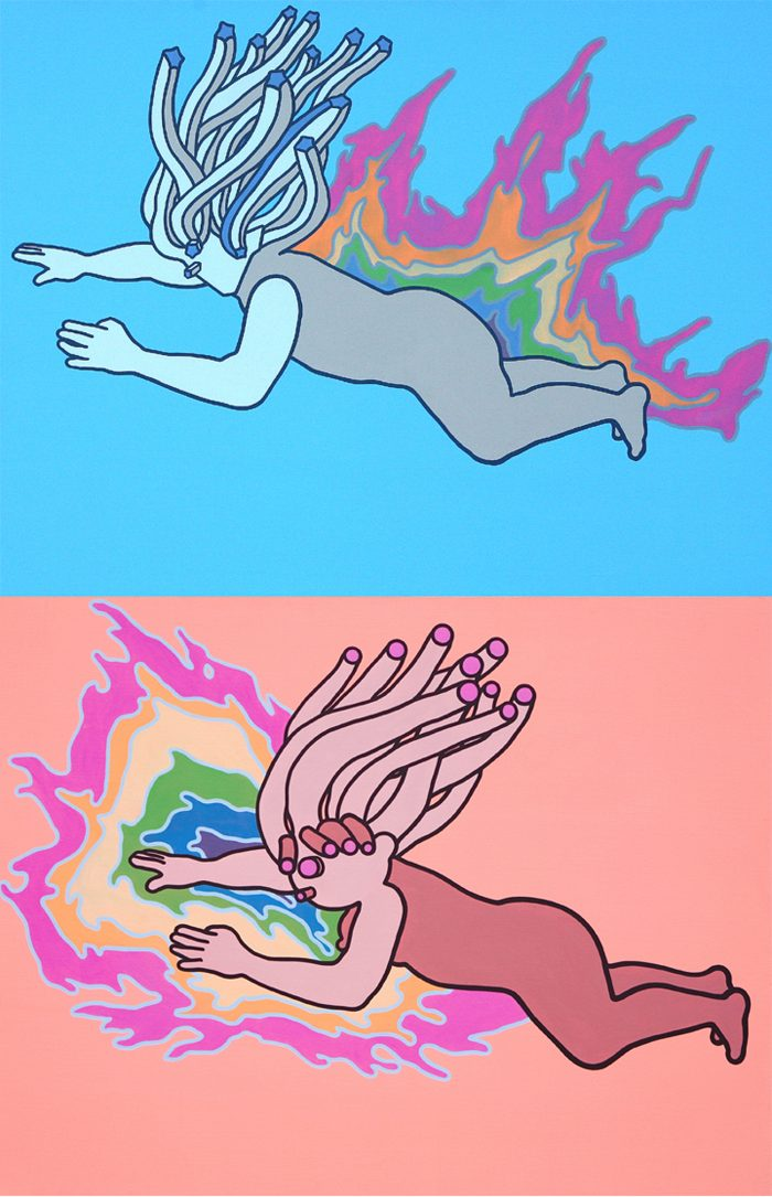 his-her-wavelength-acrylic-oil-on-canvas-182x-116-7cm-2008