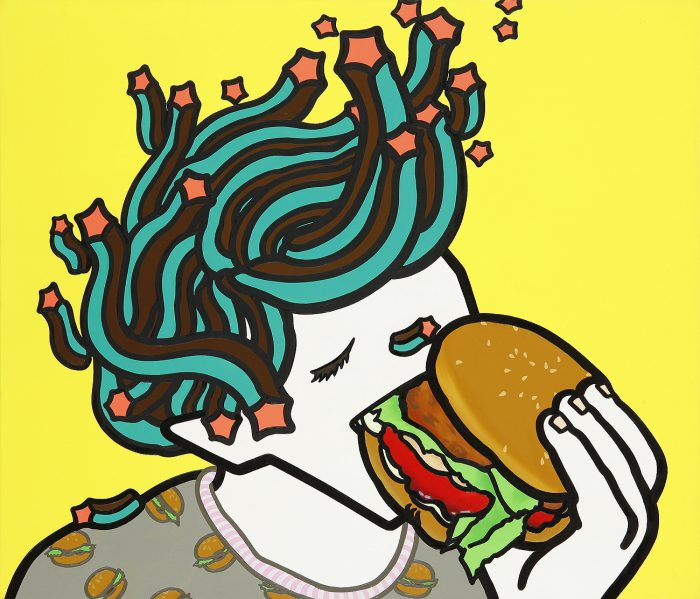 i-love-burgers-45-5x53cm-acrylic-and-oil-on-canvas-2013