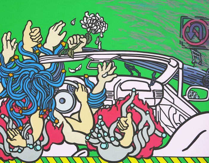 racing-of-a-death-acrylic-oil-on-canvas-91x-116-7cm-2010