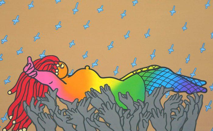 rainbow-heroine-acrylic-oil-on-canvas-80-3x-130-3cm-2008