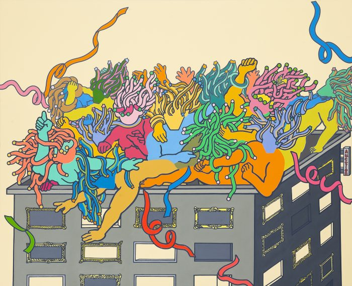 rooftop-party-acrylicoil-on-canvas130-3x162cm2010