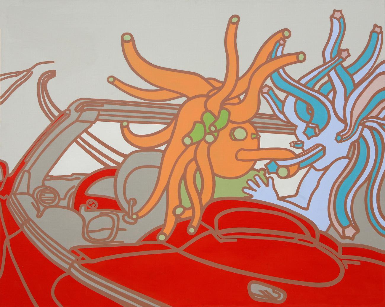 Conversation needed! Acrylic & Oil on canvas 72.7x 91cm 2008