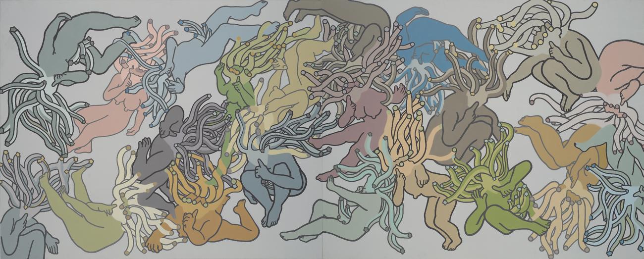 ssh~! Acrylic & Oil on canvas 130.3x 324cm 2008